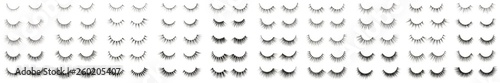 Valokuva collection of multiple styles mink hair artificial eyelashes extensions