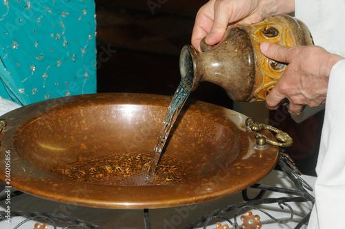 water for baptism Fototapeta