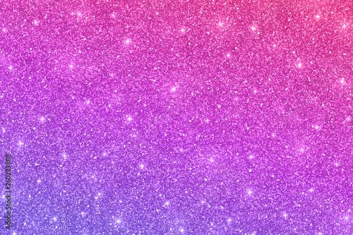 Fotografija Glitter horizontal texture with pink violet color gradient