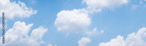 Canvas Print blue sky background with white clouds during day . panorama .