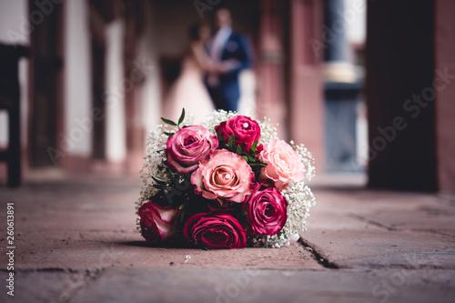 Brautstrauß Hochzeit Fototapete