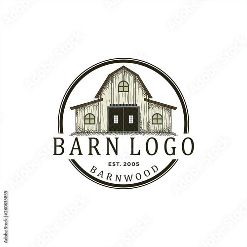Obraz na plátně logo design for barn wood