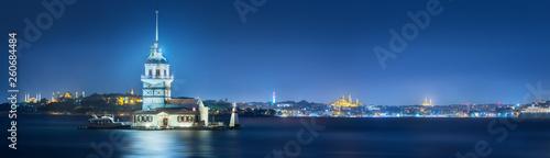 Fotografering Maiden Tower in Bosphorus strait Istanbul, Turkey