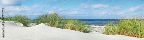 Obraz na płótnie Baltic Sea Beach with Dunes and Ocean View - Panorama