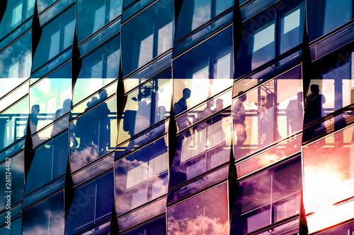 people and city double exposure - abstract business concept  - Tapéta, Fotótapéta