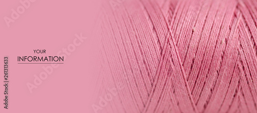 Fotografia, Obraz Pink thread macro background clothing sewing material pattern