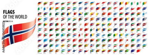Fotografia National flags of the countries