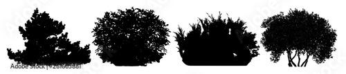 Fotografija Bush silhouette vector set