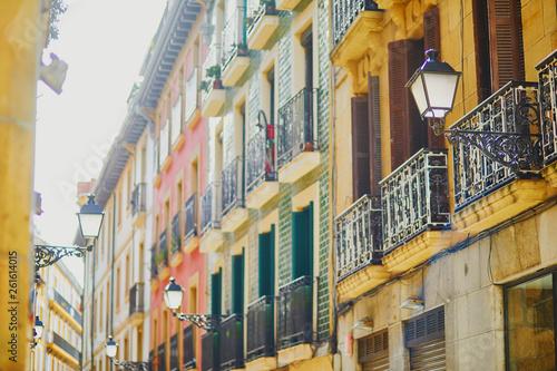 Tablou Canvas Beautiful facades of buildings in San Sebastian (Donostia), Spain