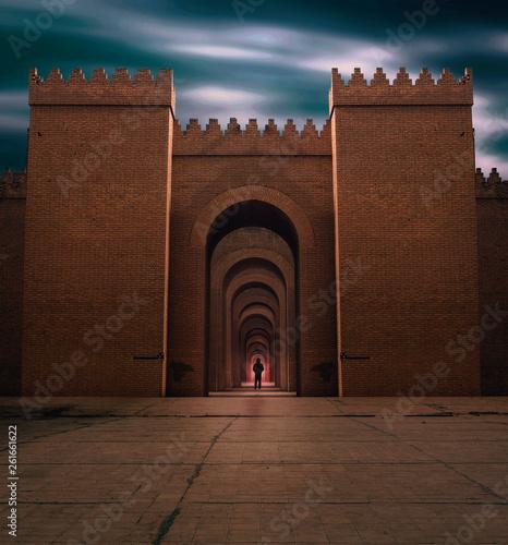 Cuadros en Lienzo arch of the ancint gate in babylon,Iraq