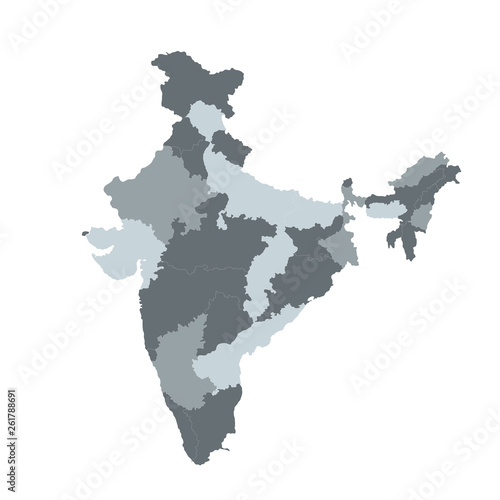 Photo India vector map for infographic ,