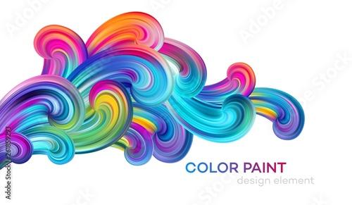 Obraz na plátně Modern colorful flow poster
