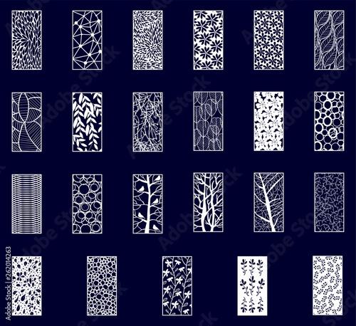 Carta da parati Set of Decorative laser cut panels.
