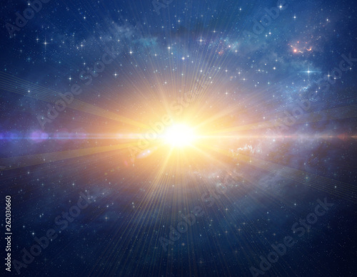 Wallpaper Mural Cosmic star blast in outer space. Stellar explosion.