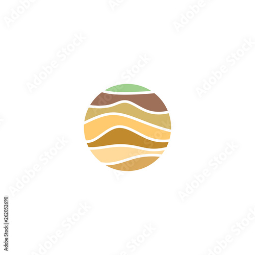 Canvastavla soil layers geology logo icon vector element