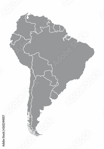 South america map illustration