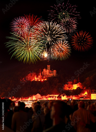 Firework over the rhine valley - Rhein in Flammen #262381040