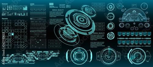 Obraz na plátně HUD elements mega set pack
