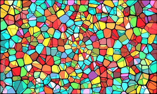 Obraz na plátne Vector Illustration of abstract vitrage background