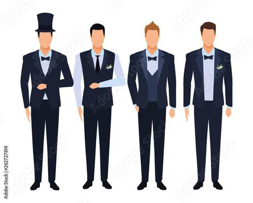 Fototapeta men wearing tuxedo