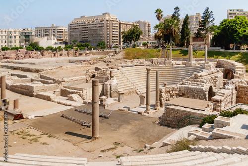 Billede på lærred Ruins of the Roman amphitheatre of the II—IV centuries