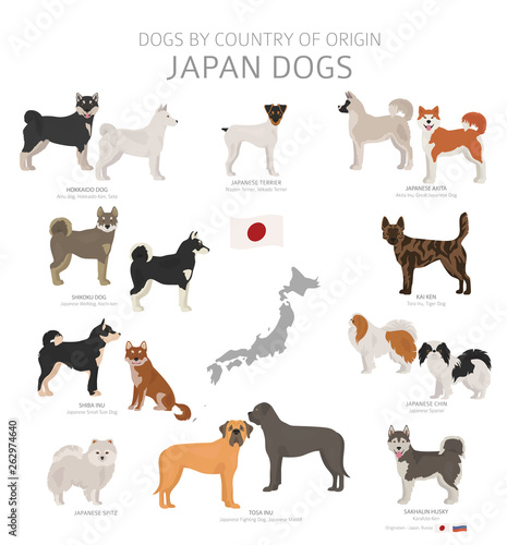 Canvas Print Dogs by country of origin