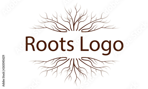 Photo Logo with a pattern of tree roots