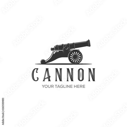 Obraz na plátně Cannon icon vector isolated on white background for your web and mobile app desi