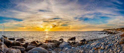 Obraz na płótnie Coastal shoreline seascapes of Nova Scotia.