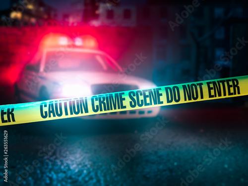 Canvas-taulu high contrast image of a crime scene