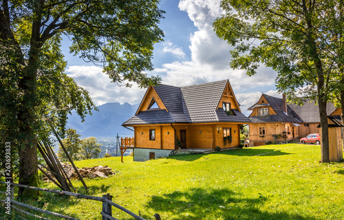 Obraz na płótnie Tatry Mountains and Zakopane city surroundings