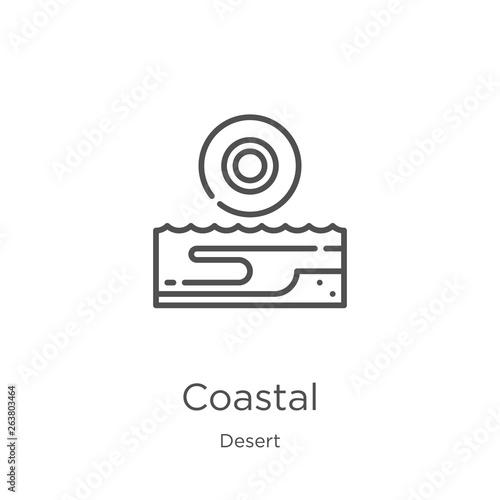 Fototapeta coastal icon vector from desert collection