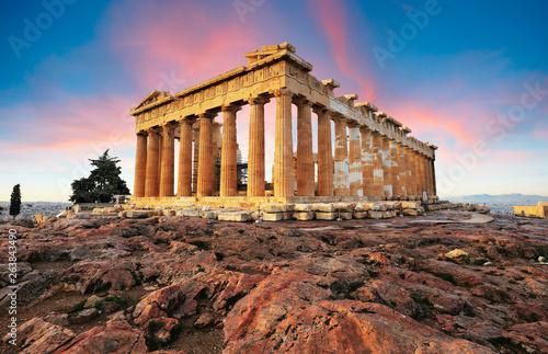 Fotografia Parthenon on Acropolis, Athens, Greece. Nobody