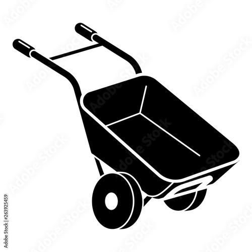 Garden wheelbarrow icon Poster Mural XXL