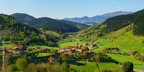 Panorama of Arrazola village in Basque Country