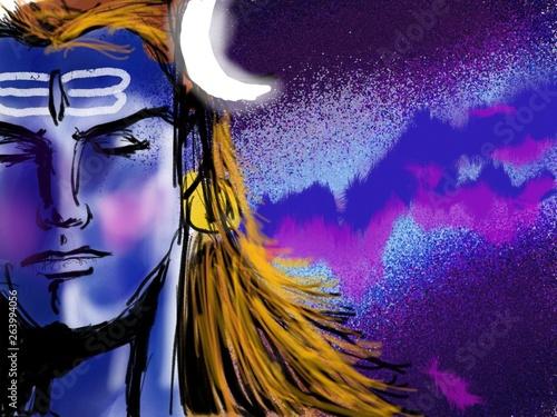 Wallpaper Mural Lord Shiva