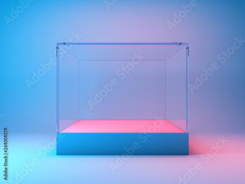 Carta da parati Empty glass showcase