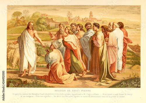 Canvas-taulu Christian illustration. Old image