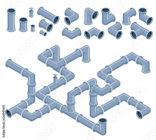 Foto Isometric pipes
