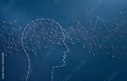 Leinwand Poster Brain waves concept