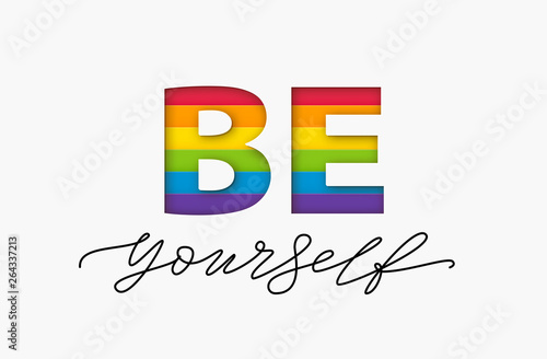 Canvas Print Be yourself quote