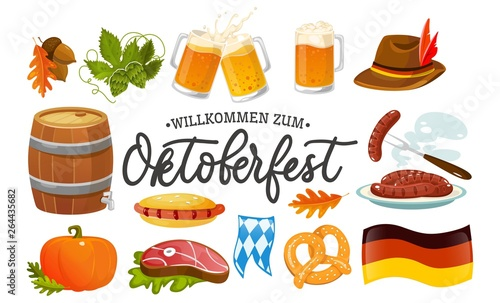 Photographie Oktoberfest food and symbols collection