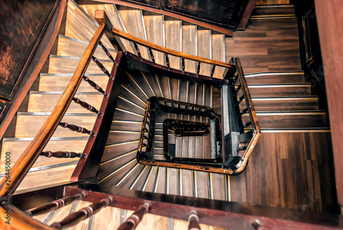 Stampa su Tela retro spiral staircase