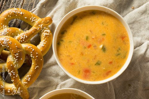 Canvas Print Homemade Beer Cheese Soup