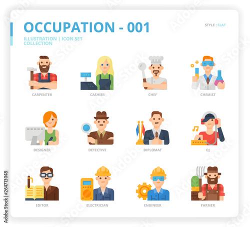 Foto Occupation icon set