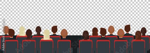 Fotografering Cinema, theater audience flat illustration