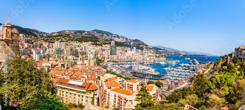 фотография Monaco skyline panoramic view of the Hercules port on the French riviera of Cote