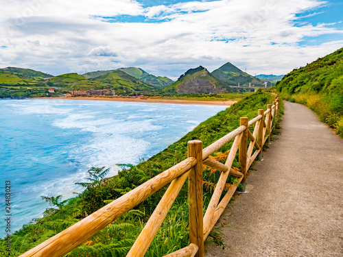 Fotografering Coastal road in Basque country