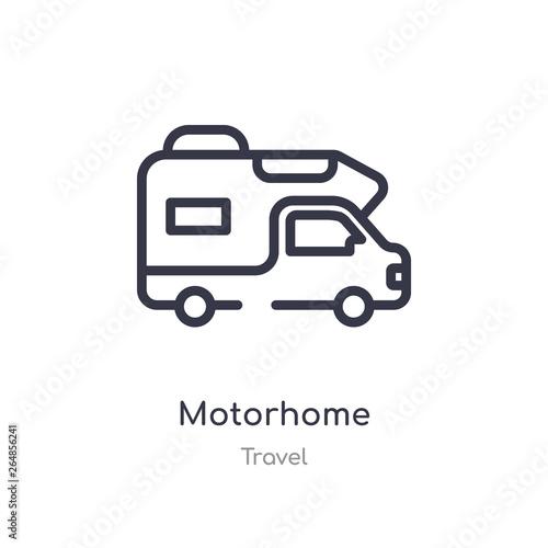 Fotografía motorhome outline icon