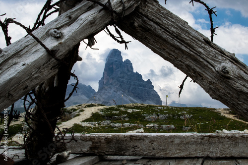 Wallpaper Mural War trenches of the First World War on Mount Piana in Veneto, Italy